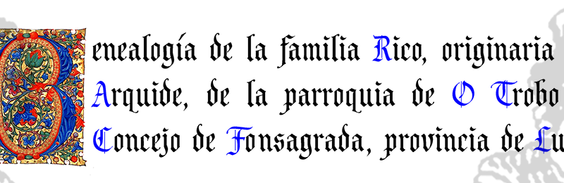 DECORACIÓN DE GENEALOGÍAS