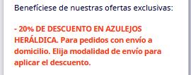 20% DESCUENTO AZULEJOS HERÁLDICOS