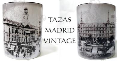 TAZAS DE MADRID RETRO