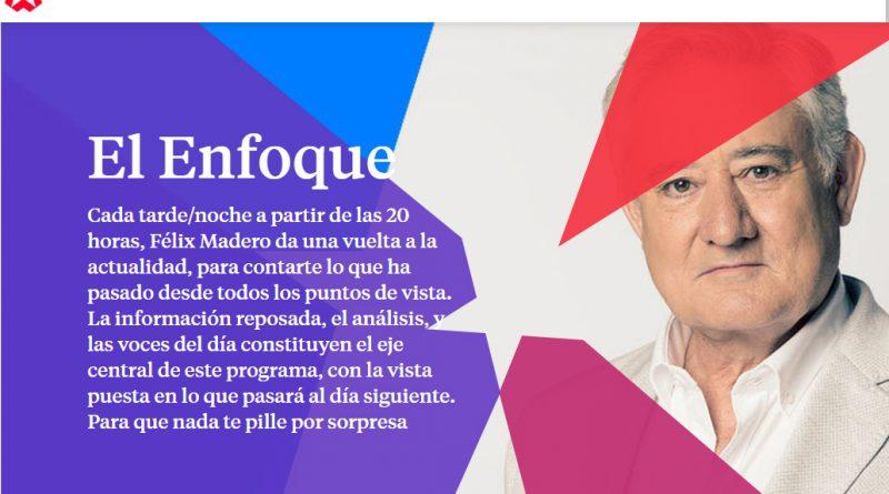 FÉLIX MADERO Y PABLO LÓPEZ ENTREVISTAN A CARLOS EN «EL ENFOQUE» DE ONDA MADRID.